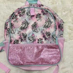 Pink Disney princesses backpack